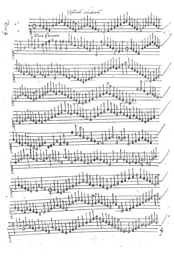 Johannes Tinctoris - Duo - Cancionero de Segovia - fol 205v