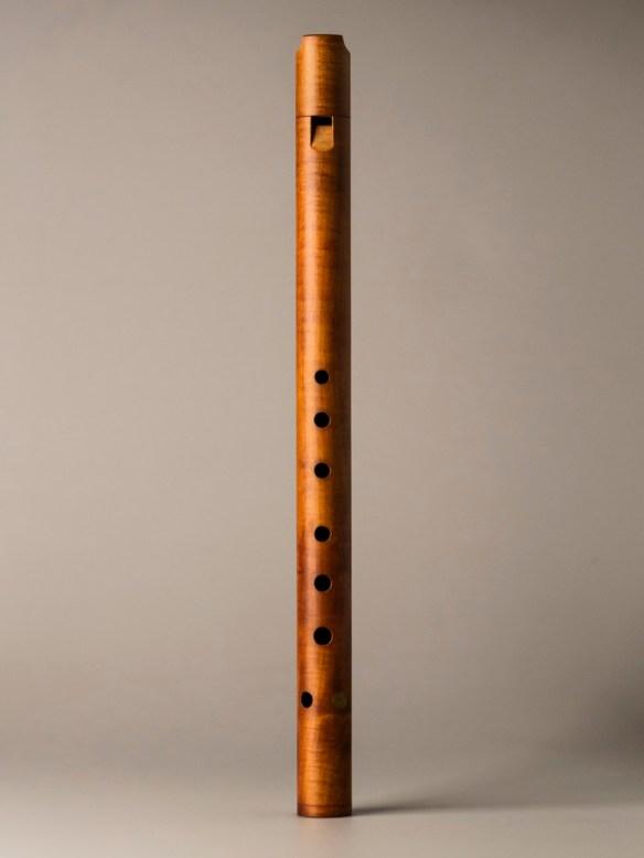 "Flauta cilíndrica medieval de Bob Marvin. Foto: <a href=""https://beautifulrecorders.com/cylindrical-recorder-bob-marvin/"">beautifulrecorders.com</a>"