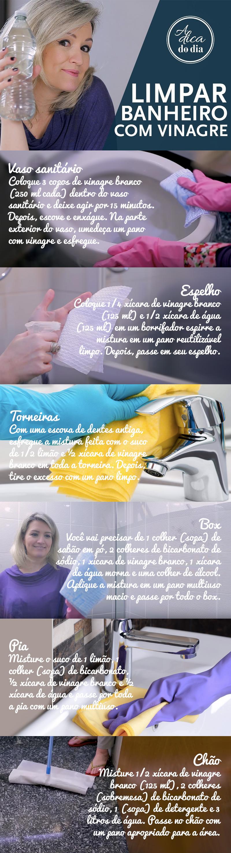 limpeza de banheiro com vinagre