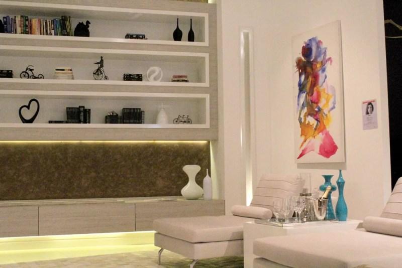 Decoração sala de lareira Mostra Fabrilis Arquiteta Flavia Medina Arquitetura & Decoração de Interiores