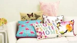 decoração almofadas coloridas sala de estar