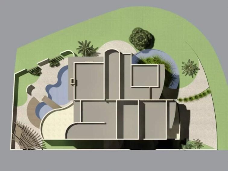 projeto casa branca linhas curvas ibi aram arquiteta flavia medina