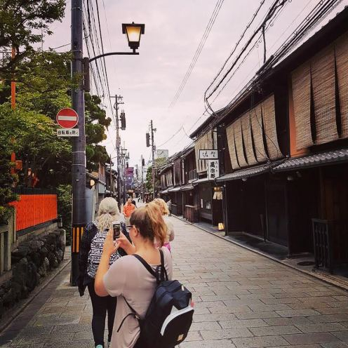 instagramming in Kyoto