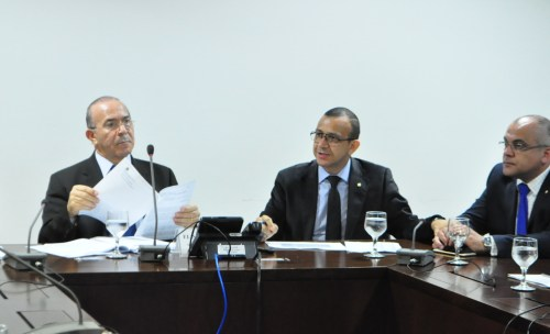 Ministro Eliseu Padilha,deputados Carlos Gomes (PRB) e Jones Martins (PMDB) - Divulgação/Camara dos Deputados