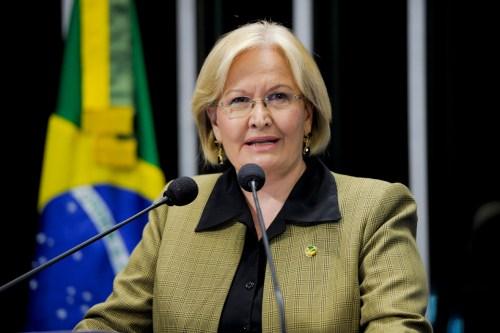 Sessão especial em comemoração aos 50 anos de criação do estado do Acre. Em discurso na tribuna do plenário do Senado, senadora Ana Amélia (PP-RS).