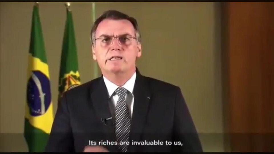 BOLSONARO ENFRENTA A FALSA CRISE NA AMAZÔNIA, PROVOCADA PELA MÍDIA INTERNACIONAL.