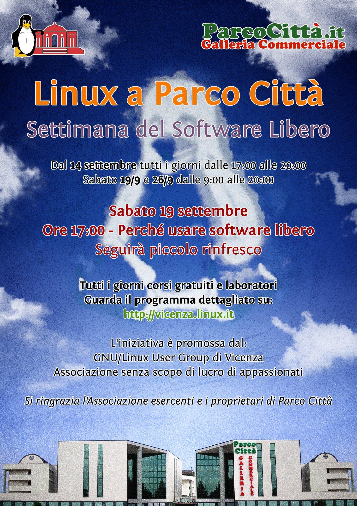 Settimana del software libero a Vicenza - Volantino by Andrea Lazzarotto