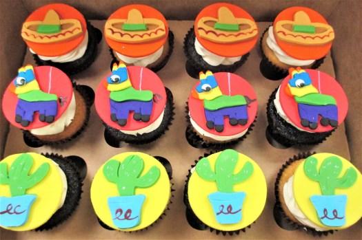 cactus pinata sombrero cupcakes