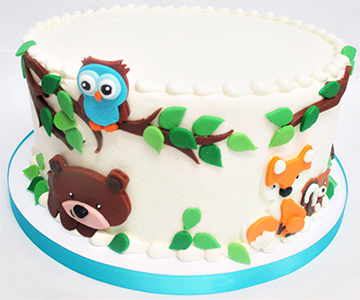 forest animal cake tree branch