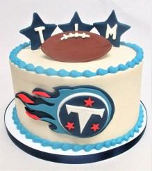 titan logo cake football