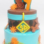 two tier scooby doo cake