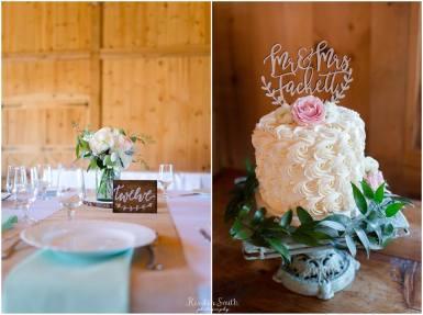 pond view farm wedding display cake - kirsten smith photography