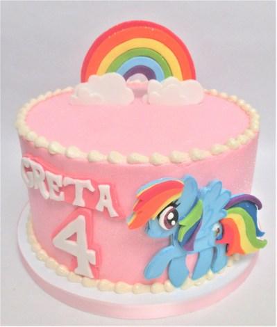 my little rainbow pony cake