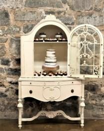 antique furniture wedding display