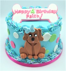 doggy bone birthday cake