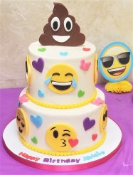 emoji two tier cake