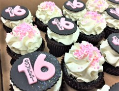 sweet 16 fondant toppers