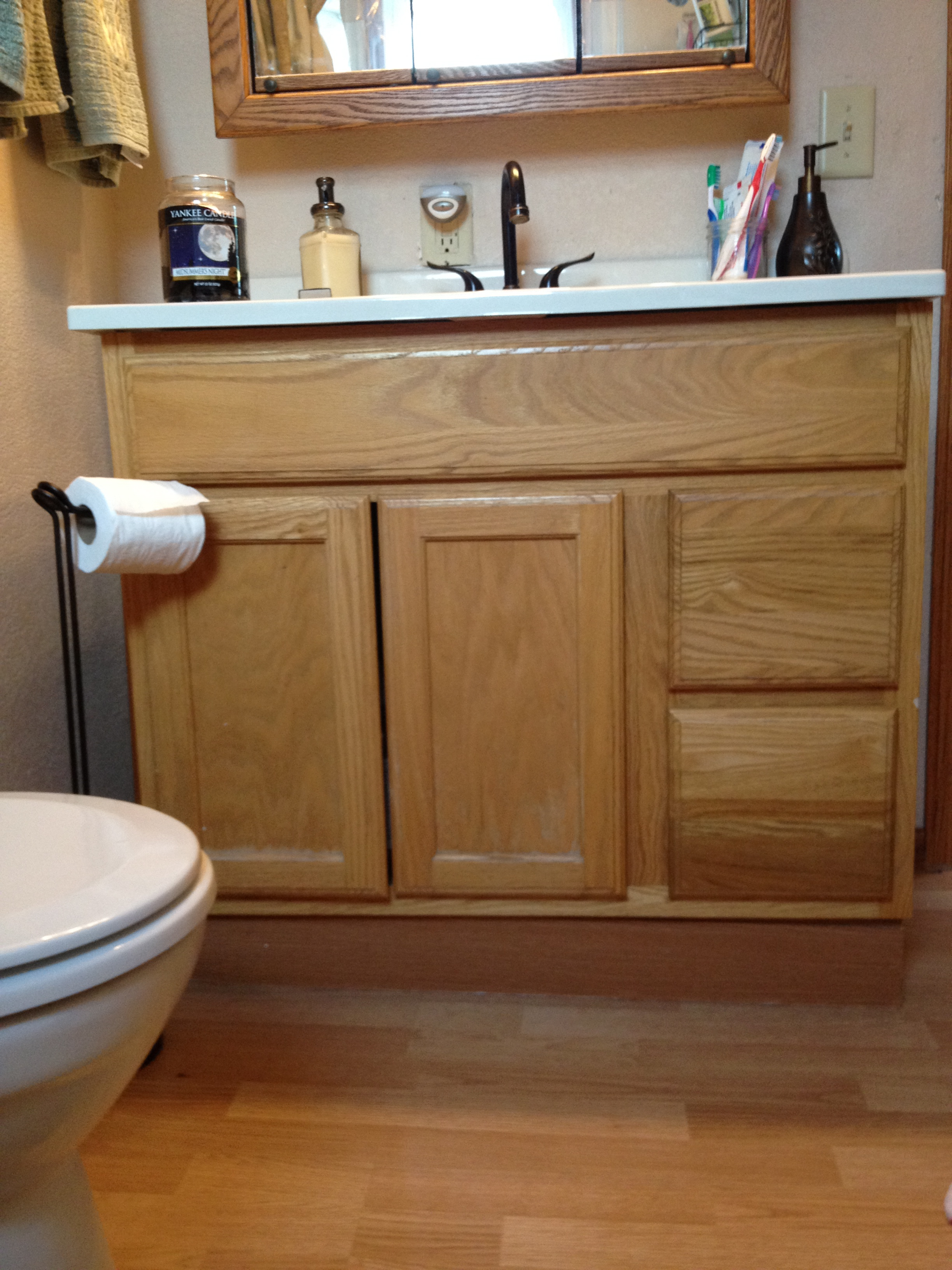 Cheap Bathroom Vanity Makeover  Flavorful Experiences