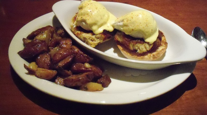 Image of Tower Oaks Lodge Eggs Chesapeake at Clyde's restaurant in Rockville, Maryland