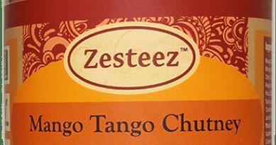 Jar of Zesteez brand Mango Tango Chutney