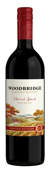 A bottle of Woodbridge by Robert Mondavi Harvest Spiced Red Blend