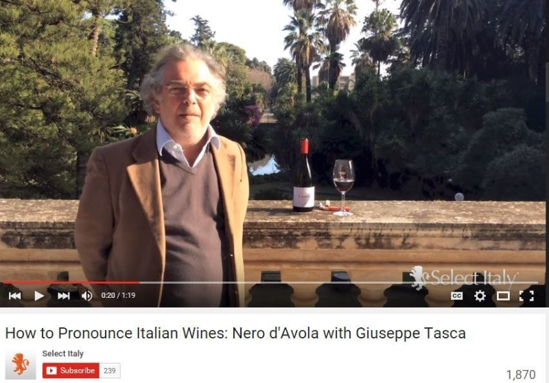 How to Pronounce Italian Wines: Nero d'Avola with Giuseppe Tasca (PRNewsFoto/Select Italy)