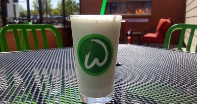 Wahlburgers is Slingin' Limited-Edition Grown Folks' Frappes That Taste Like Peach Cobbler