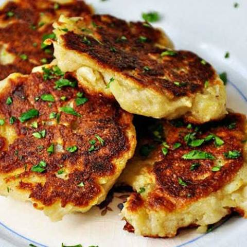 These traditional Irish potato pancakes are a simple dish that is so deliciously creamy on the inside with crispy goodness on the outside. Always make extra mash potatoes just to have these the next day!