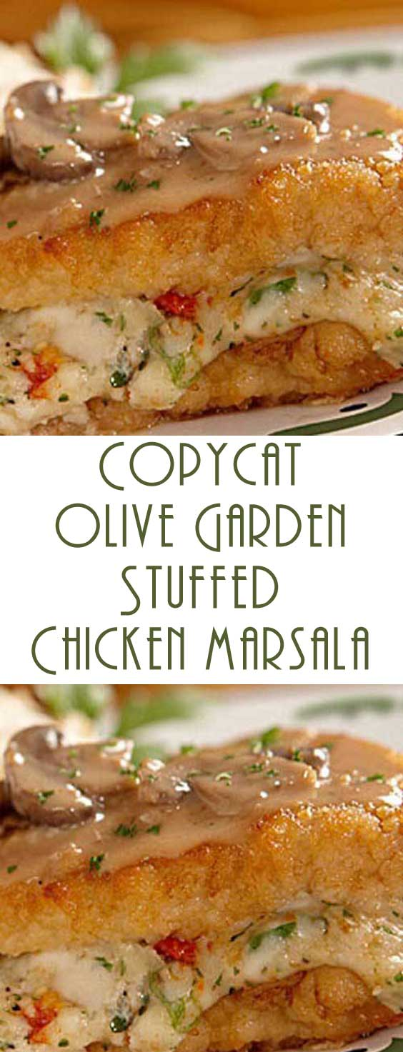 Copycat Olive Garden Stuffed Chicken Marsala Recipe - Flavorite