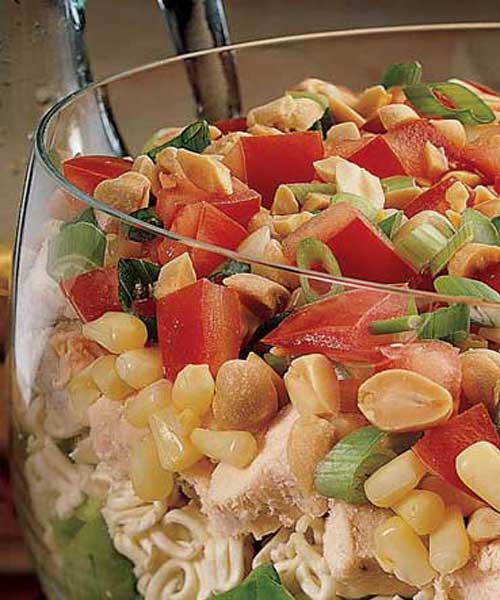 Seven Layer Chinese Chicken Salad
