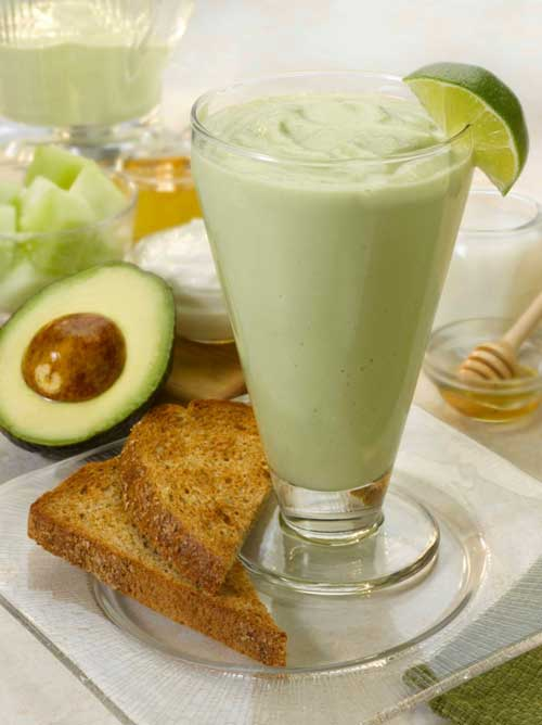 Recipe for Avocado Melon Breakfast Smoothie