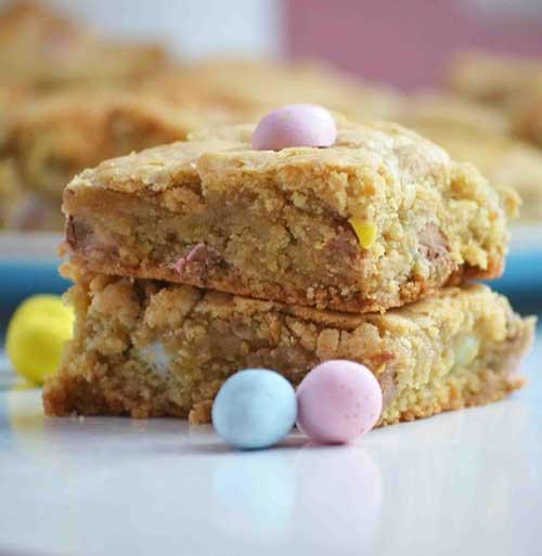 Cadbury Mini Egg Blondie Bars