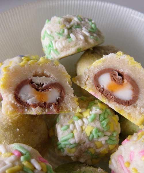 Cadbury Cream Egg Surprise Cookies