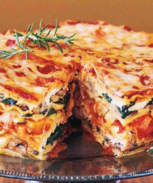 Mile High Veggie Lasagna Pie