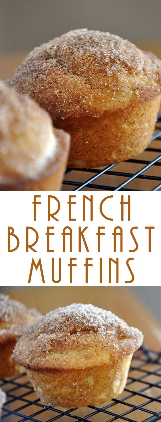 Eat these warm – when warm, these French Breakfast Muffins pretty much just melt in your mouth and it's heavenly. #breakfastrecipe #muffinrecipe #breakfastmuffin