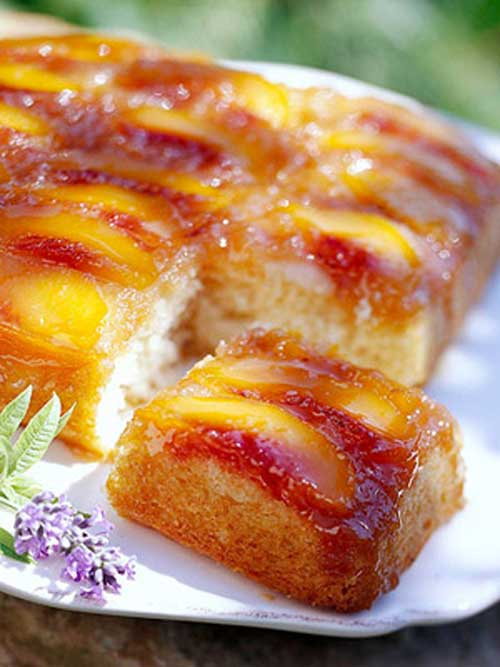 Slow Cooker Peach Upside Down Cake Recipe