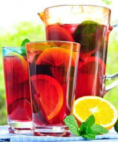 Recipe for Lighter Sangria Punch - Unfortunately, calories still count when you consume them through a straw, but look how light and refreshing this Sangria Punch is.