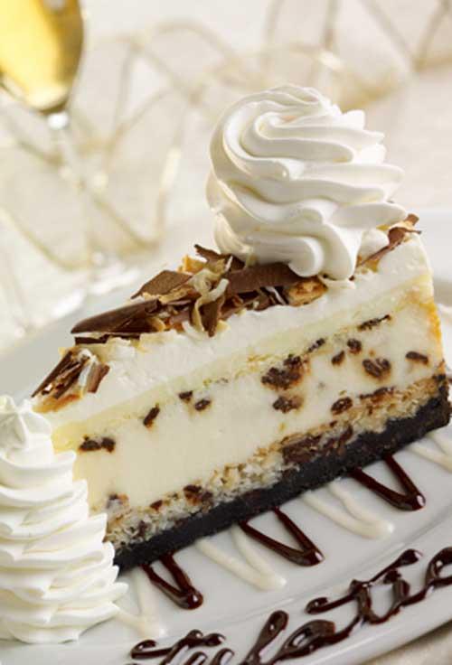 Copycat Cheese Cake Factory Coconut Cream Cheesecake
