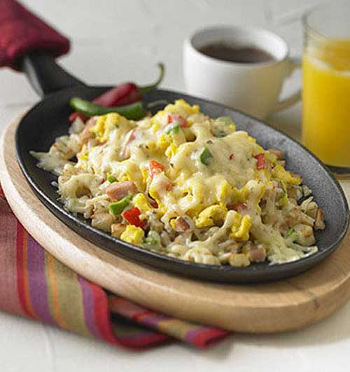 Cheesy Cowboy Breakfast Skillet