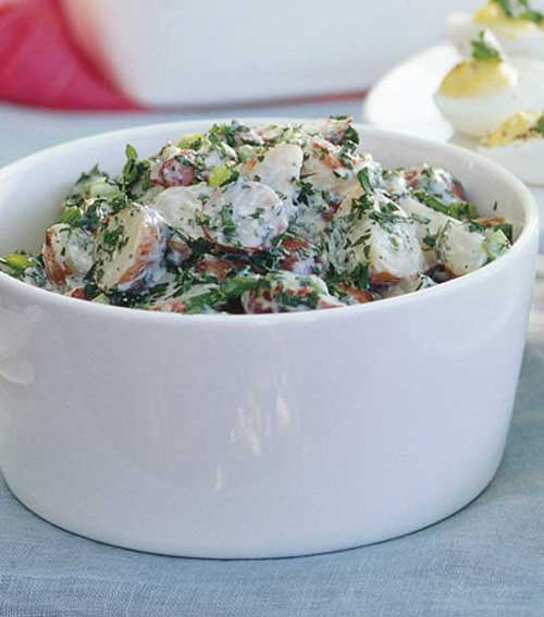 Creamy Red Potato Salad with Lemon and Fresh Herbs