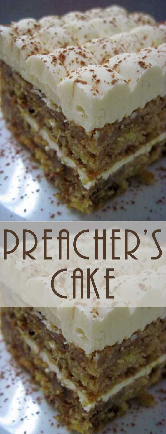 This tender moist Preacher's Cake is perfect to bring to potlucks, make during the holidays, or enjoy any time you're craving something sweet. #cakerecipe #baking #dessertrecipe