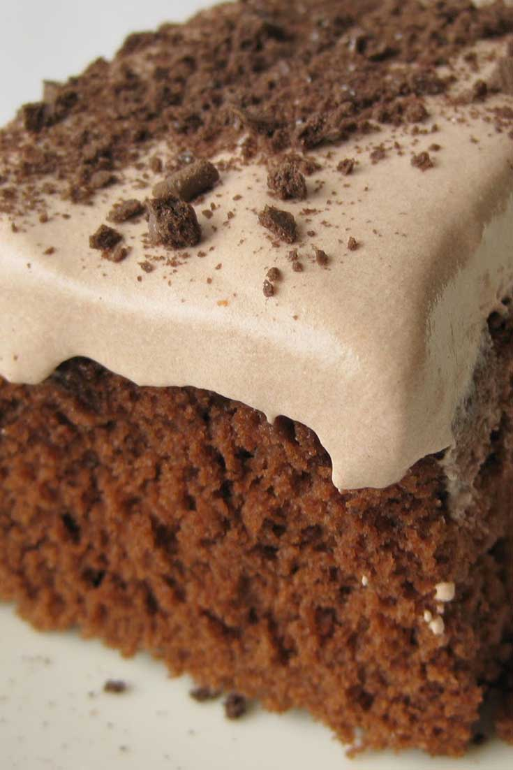 This Low Fat Chocolate Pudding Cake is surprisingly really good. It is very light and full of flavor. I would almost prefer this cake to regular cake with thick heavy frosting. I guess less guilt has something to do with that. #chocolate #cake #dessert
