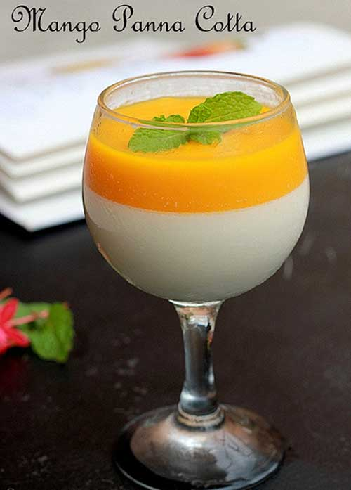 Here is an elegant dessert that will wow a crowd. This Mango Panna Cotta's looks and taste are beyond elegant, but the preparation could not be any easier.