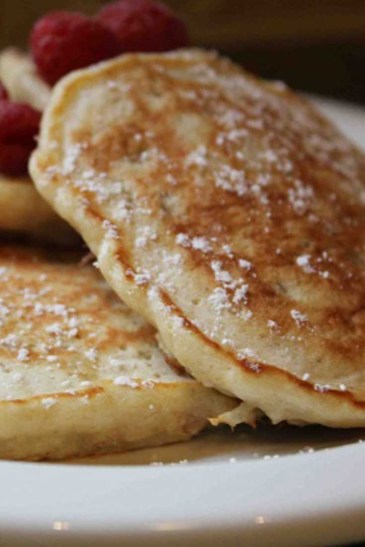These Oatmeal Pancakes were beyond exceptional. I wasn't the only one who thought so. After helping me make them, both boys polished off 5 pancakes each! #pancakes #oatmeal #breakfast