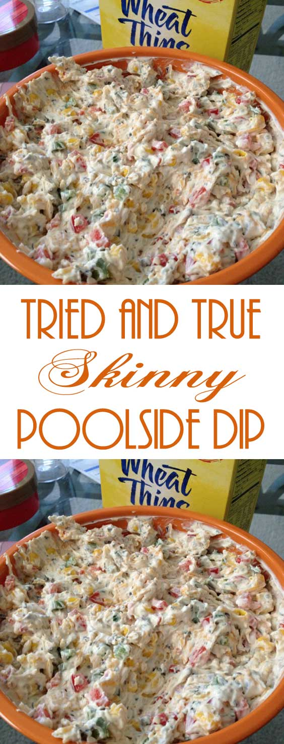 It uses lots of veggies and low fat ingredients so I did not feel guilty snacking on it. I will for sure be making this in the summer when I am actually poolside! #diprecipe #partyfood #tailgating