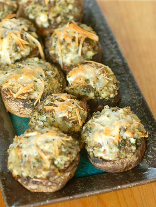 Stuffed mushrooms are such an easy dish to make, I am surprised I do not make them more often. TheseFarmers Market Stuffed Mushrooms are great as an appetizer to dinner or served at a cocktail party. Enjoy them for any of your upcoming get-togethers.