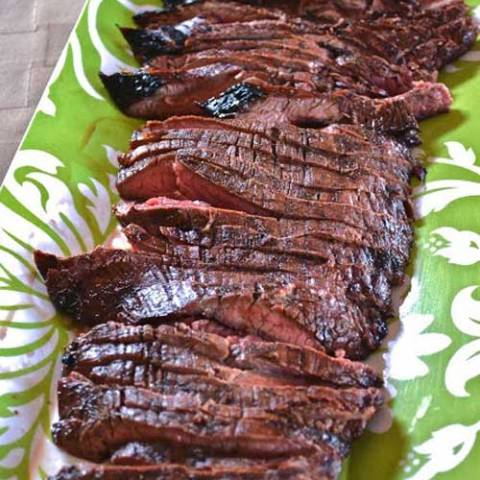 A super simple Grilled Balsamic Flank Steak recipe, that packs a HUGE flavor punch.