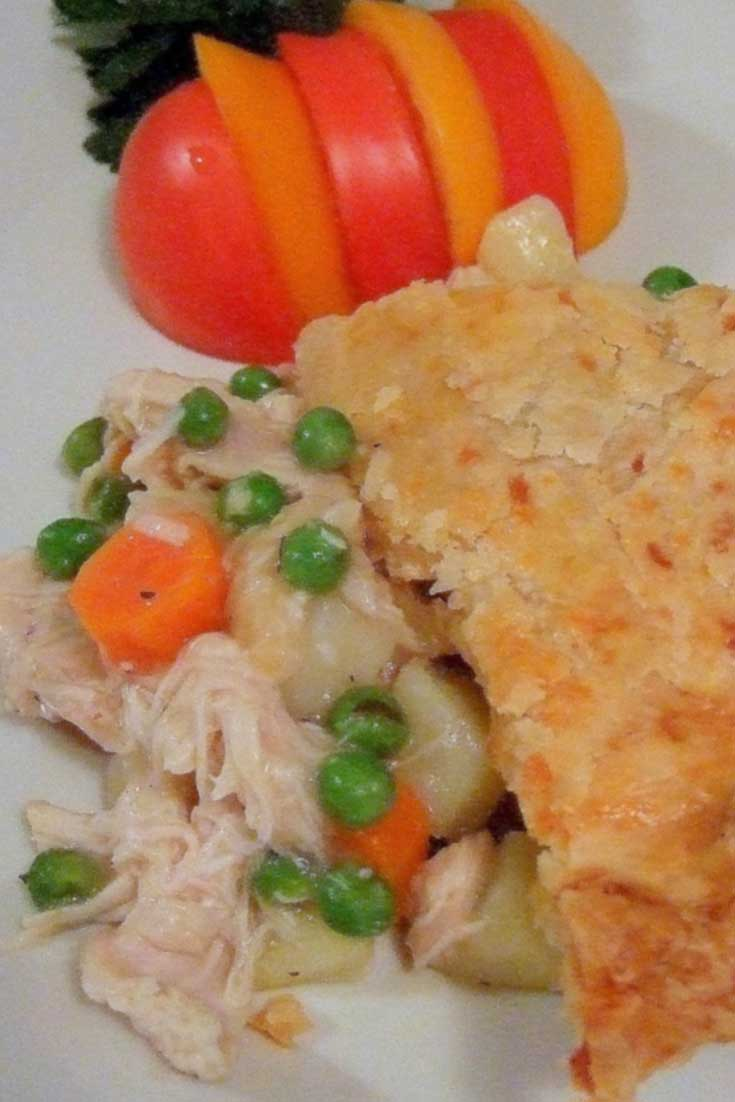 This Chicken Pot Pie-O-My is chunks of tender chicken, lots of vegetables and a tasty crust. It has everything good, a perfect comfort food kind of meal for me! #poultry #comfortfood #dinnerideas