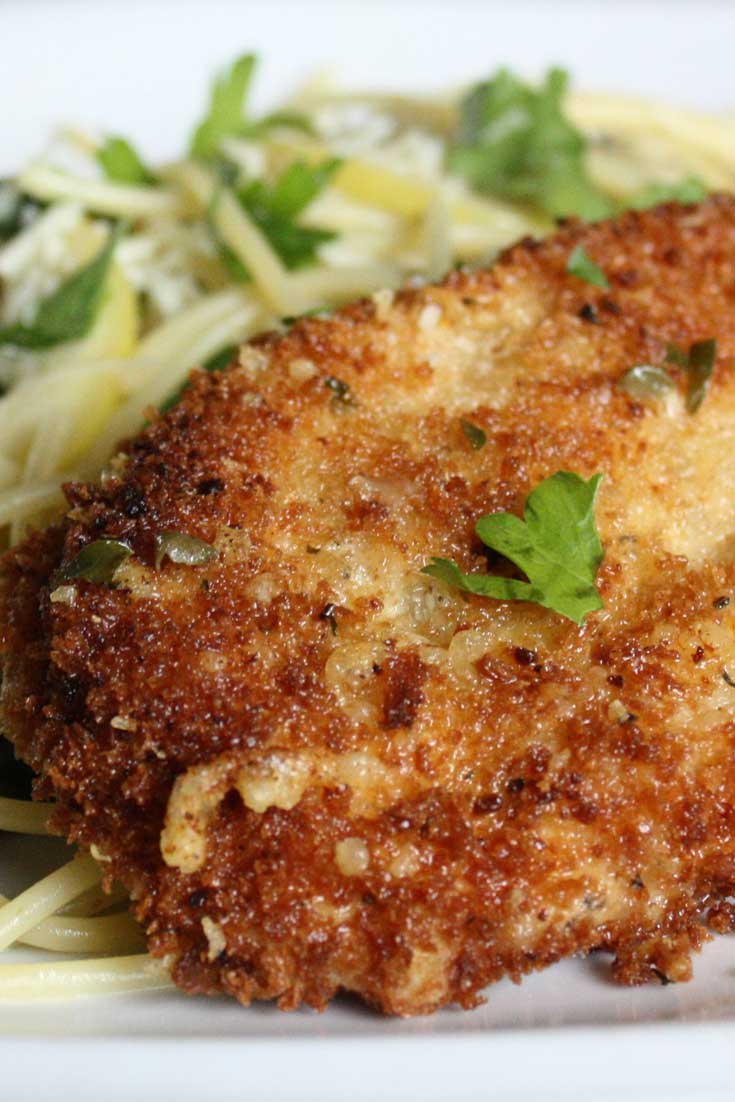 This Parmesan Crusted Chicken Picatta is quick and easy to put together, the entire dish has a freshness that I really enjoyed. Couple that with the crunch chicken and I was in chicken picatta heaven. #chicken #dinnerideas