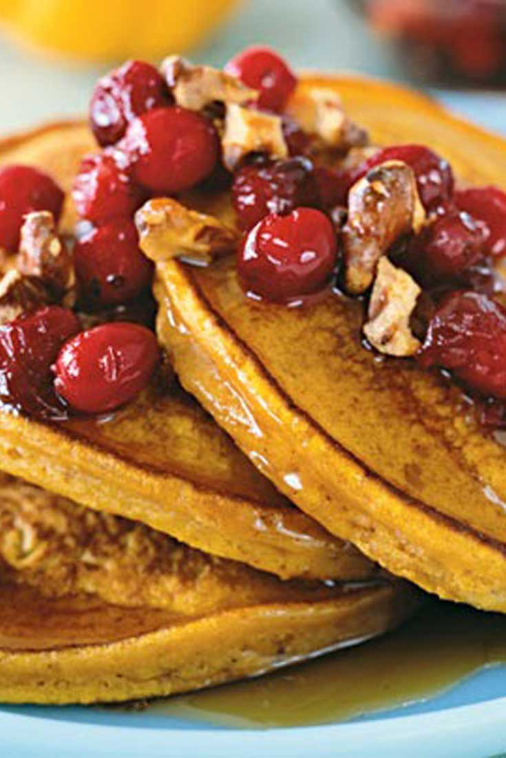 Fall is almost upon us so it is time to start thinking pumpkin. And what better way to start than with thesePumpkin Cinnamon Pancakes for breakfast. #pumpkin #pancakes #fall #breakfast